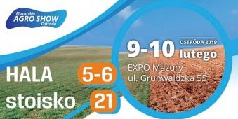 Salon de l'agriculture de Mazurie 2019 - Mazurskie Agro Show 2019 - Ostróda